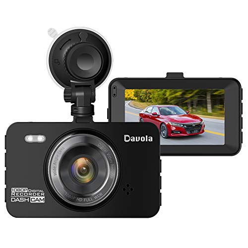 """Dash Cam Davola 1080P Full HD Dash Camera for Cars with 3"""" LCD Screen 140 Degrees Wide Angle Lens Loop Recording G-Sensor Parking Monitor Motion Detection Night Vision"""