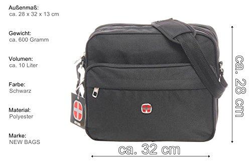 Herrentasche, Messenger, Bag, Umhängetasche, Herren Schultertasche Umhängetasche Tasche Flugbegleiter
