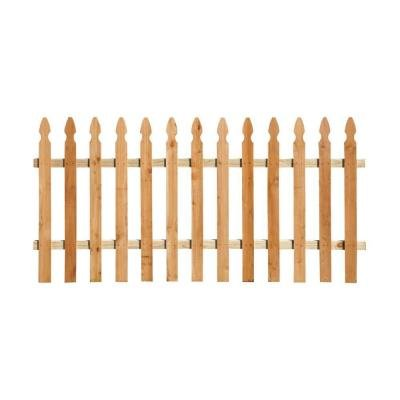 Gothic Fence (3-1/2 ft. x 8 ft. Western Red Cedar Spaced Picket French Gothic Fence Panel Kit)