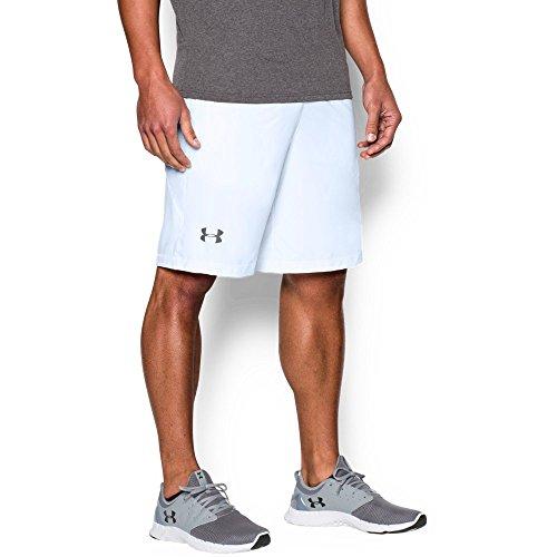 "Under Armour Men's Raid 10"" Shorts, White /Graphite, Large"