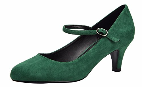 Platform Pumps Heel Velvet Versatile Shoes Dress Sexy Strap Women Green Stiletto Ankle Low Shoes For ZZvqBwS