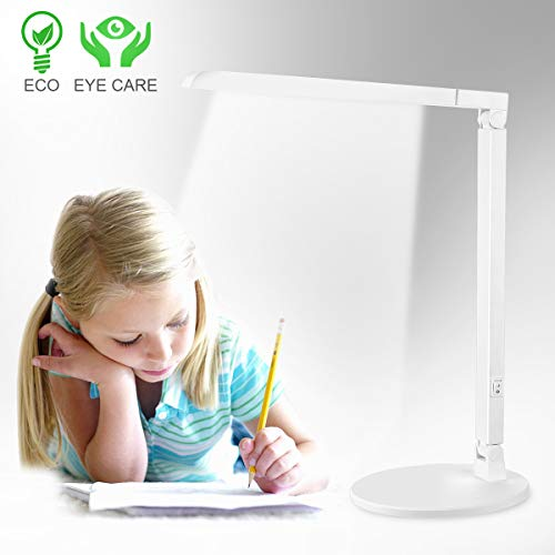 LED Desk Lamp,Eye-Caring Table Lamps Office Lamp Adjustable Goosneck White Light Led Desk Reading Lights Led Table Lamps for Home Office (Light)