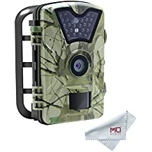 2018 New Game Hunting Trial Camera 12MP 1080P with 90°PIR and 24 Infrared LED for Wildlife Observation, Monitoring and Facility Security