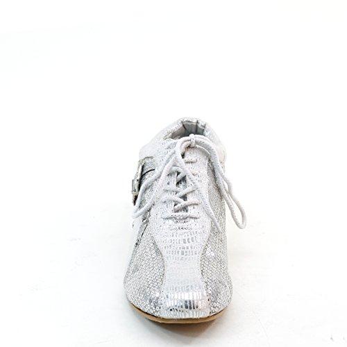 Nouvelles Paillettes Womens Brieten Lace Up Sneakers De Mode Argent
