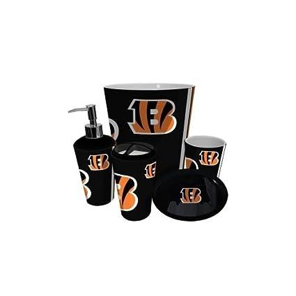 12201749 Amazon.com : Cincinnati Bengals NFL Complete Bathroom Accessories ...