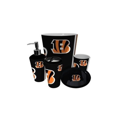 Cincinnati Bengals NFL Complete Bathroom Accessories 5pc Set (Cincinnati Bengals Set)