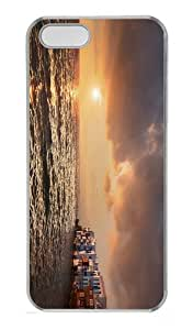 rugged covers sunset mykonos greece PC Transparent Case for iphone 5/5S