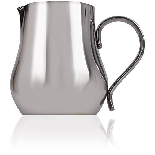 LuxHaus 12oz Stainless Steel Milk Frothing - 18 Stainless Steel Chrome