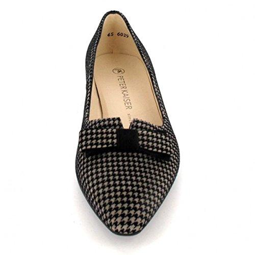 Shoe Leah Kaiser Black Court Peter Multi Low Heel CxUXgwq