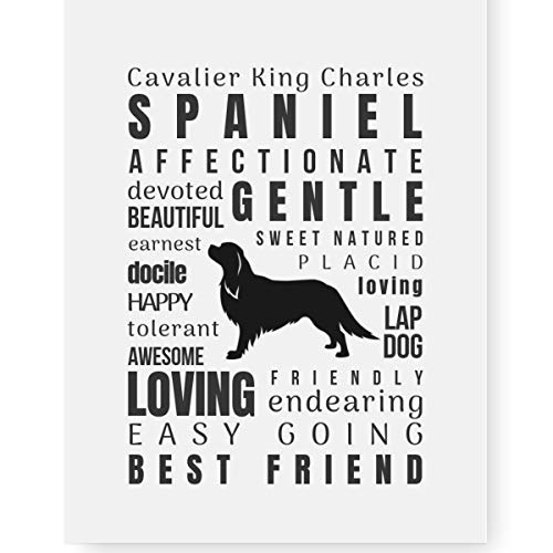 (Pawsome Designs King Charles Spaniel Gifts Art Quote Print - Perfect Dog Lover Gift for Cavalier Spaniel Mom (8.5x11 Unframed))