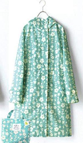 Funzionale Cappuccio Fashion Ragazza Impermeabile Grün Giacca Hx Pioggia Donna Con Antipioggia Per Da Chic Esterno XxvOv