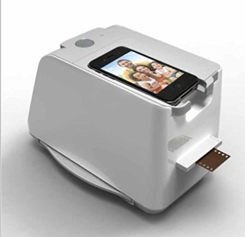 SainSonic FS-03 35mm Negative Film Slide Scanner for Smartphone iPhone 4 4S 5 5S SamSung S2 S3, iphotojet APP, AA Battery / USB Power, 1800 DPI, 1-Year Warranty by SainSonic (Image #1)