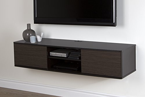 South Shore Agora Wall Mounted Media Console, 56'', Chocolate/Zebrano by South Shore