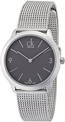Men's Calvin Klein ck Minimal Mesh Band Watch K3M52154 [Watch]