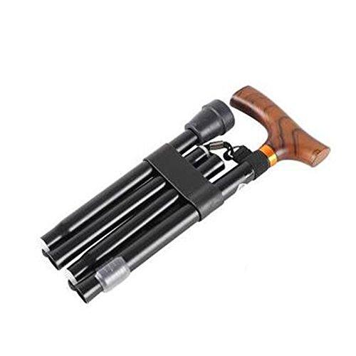 XUEPING 杖高齢者用アルミニウム松葉杖2色収納式折りたたみ式歩行スティック10高さ148-178 cm ( 色 : E Black ) B078S55L5P E Black E Black