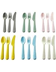 IKEA ShopYourHome Kalas Plastic Cutlery Set 18-Piece (Multicolour)