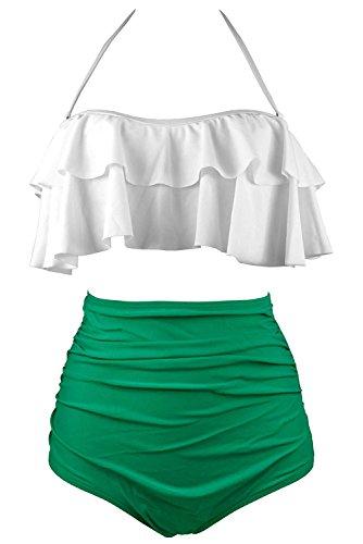 Green And White Bikini in Australia - 1