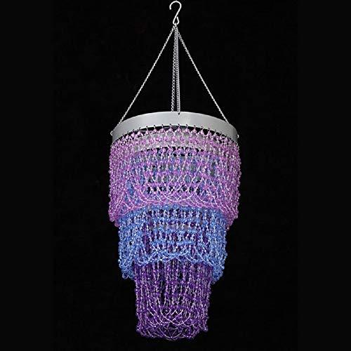 Purple Chandelier Beaded - Event Decor Direct 3 Tiers Beaded Chandelier - Purple