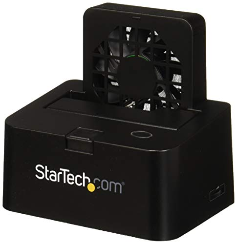 StarTech.com eSATA or USB 3.0 External docking station for 2.5/3.5in SATA III hard drives - SSD & HDD dock w/ UASP & built-in Fan (SDOCKU33EF)