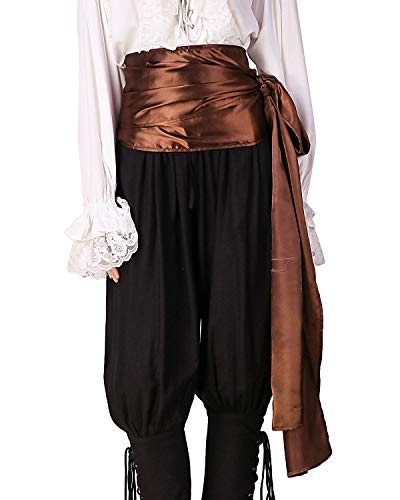 (ThePirateDressing Pirate Medieval Renaissance Halloween Cosplay Costume Satin Large Sash)