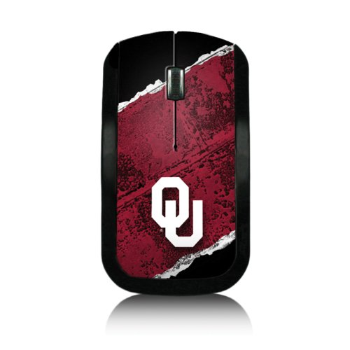 Oklahoma Sooners Wireless USB Mouse officially licensed by the University of Oklahoma Slim Sleek Low-Profile Portable by keyscaper®