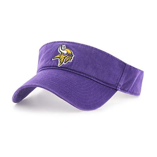 Purple Franchise Fitted Hat - OTS NFL Minnesota Vikings Male Visor, Purple, One Size