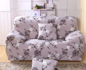 Farmerly Modern Baroque Floral Printing Sofa Elastic Predector Slip Cover Minimalist Removable Anti-Dirty Stretch Couch Case Living Room   13, Three Seater