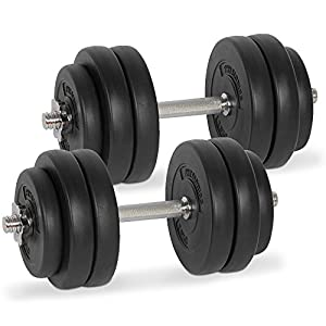 Physionics Kurzhantel Set Gewichte Hanteln 30 kg (2 x 15 kg) inkl....