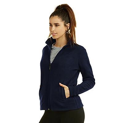 Sofra Women's Polar Fleece Full Zip Up Winter Jacket at Women's Coats Shop