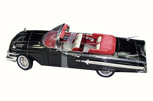 1960 Chevy Impala Convertible, Black - Motor Max 73110 - 1/18 Scale Diecast Model Toy Car (Model 1960's)
