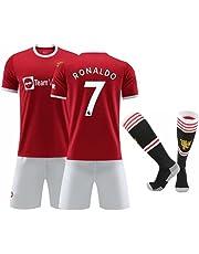 C Ronaldo #7 Manchester United Football Home Jersey, 21-22 New Ronaldo Ultra Short Sleeve Jersey