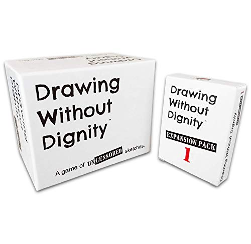 Drawing Without Dignity Combo Pack: Adult Party Game + Expansion Pack 1