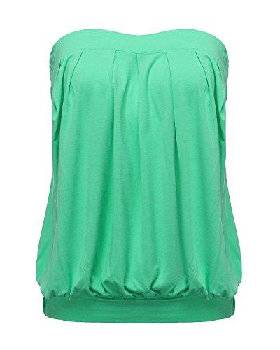 Spalline Cotone Estate Magliette Senza Unita Sexy Vest Donna Verde Partito Tops Spiaggia Zanzea Tinta 4zxtwqft