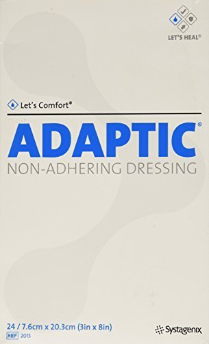 Adaptic Non Adherent Dressing - 24 ADAPTIC Non-adhering Dressing, Adaptic Drs Non-Adh Strl 3 x 8 by SYSTAGENIX WOUND MNGMNT