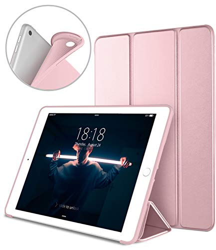DTTO iPad 9.7 Case 2018 iPad 6th Generation Case/2017 iPad 5th Generation Case, Slim Fit Lightweight Smart Cover with Soft TPU Back Case for iPad 9.7 2018/2017 [Auto Sleep/Wake] - Rose Gold