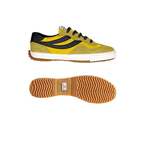 Superga 2832-NYLU Zapatillas de ante, Unisex - Adulto DkYellow-Yellow-Blk