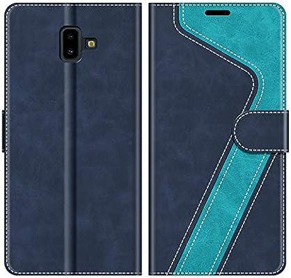 MOBESV Funda para Samsung Galaxy J6 Plus, Funda Libro Samsung J6 Plus, Funda Móvil Samsung Galaxy J6 Plus Magnético Carcasa para Samsung Galaxy J6 Plus 2018 Funda con Tapa, Azul: Amazon.es: Electrónica