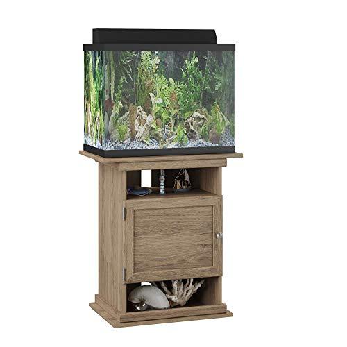 (Ameriwood Home Flipper 10/20 Gallon Aquarium Stand, Rustic Oak)