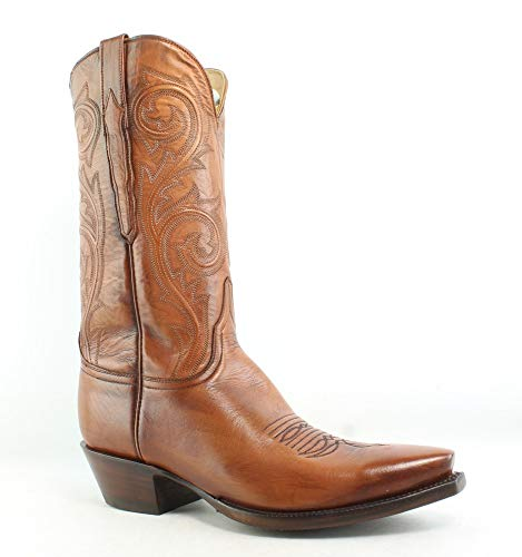 Lucchese New Mens L1697.54 Cognac Cowboy, Western Boots Size 9.5