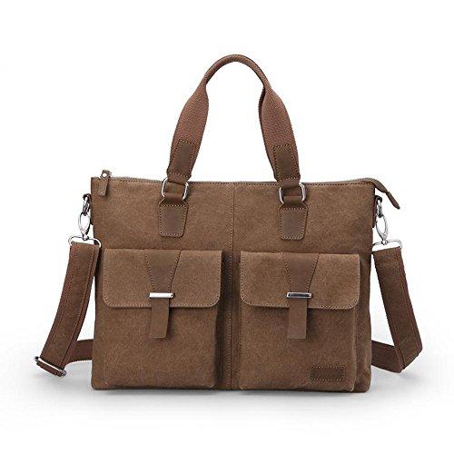 Hombre Diario Bolso de mano Fashion bolsa de hombro bolsa de mensajero bolsa de lona para maletín bolsas de negocio 14~ portátil de 15
