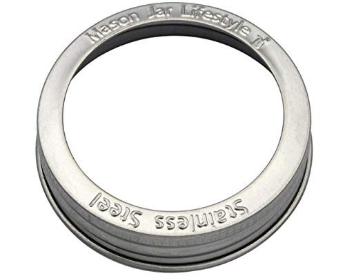Stainless Steel Rust Proof Bands/Rings for Mason, Ball, Canning Jars (5 Pack, Regular Mouth)
