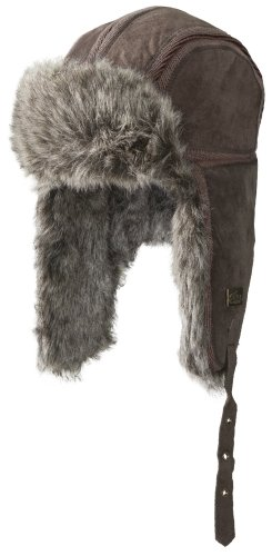 Screamer Vodka Bar Earflap Hat, Brown, 60cm (Trim Earflap)