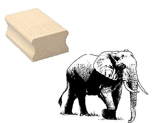 Stempel Holzstempel Motivstempel « ELEFANT » Scrapbooking - Embossing Kinderstempel Tierstempel Afrika Thailand