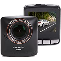 SmarTure 1296P 2K Ultra HD Dashcam, 4.0 Megapixel lens, Ambarella A7LA50, 2.4 Inch LCD, WDR, HDR, Super Night Vision DVR Recorder, Mini Car Camera
