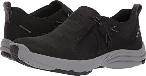 Clarks Womens Wave River Waterproof Sneaker Black Nubuck Size 7