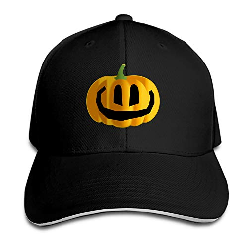 Customized Unisex Trucker Baseball Cap Adjustable Jack-O-Lantern Pumpkin Carving Halloween Happy Peaked Sandwich Hat]()