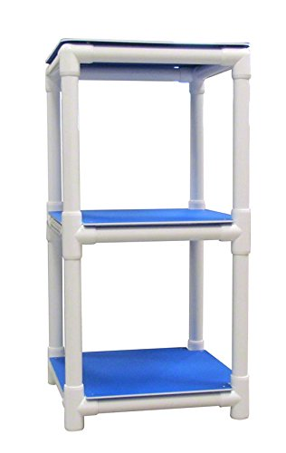 Amazon.com: 3-Shelf piscina de almacenamiento Rack, Azul ...
