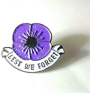 All Gave Some British Military Animals Pets Purple Poppy Enamel Pin Badge Brooch