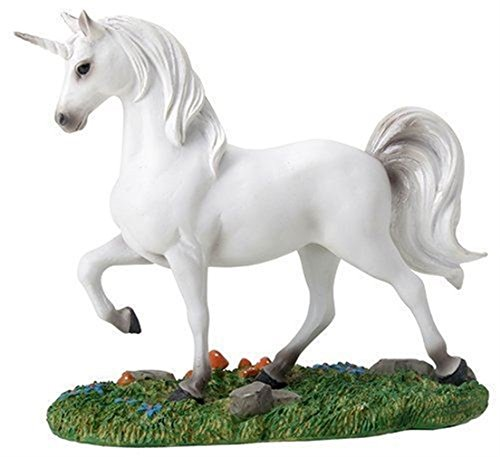 - Ky & Co YesKela Summit Mystical White Unicorn on Small Green Grass Patch Figurine Statue