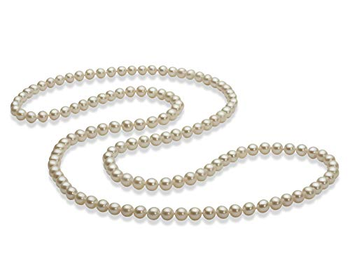 30 inches White 5-6mm AAA Quality Freshwater Cultured Pearl Necklace for Women-30 in Length